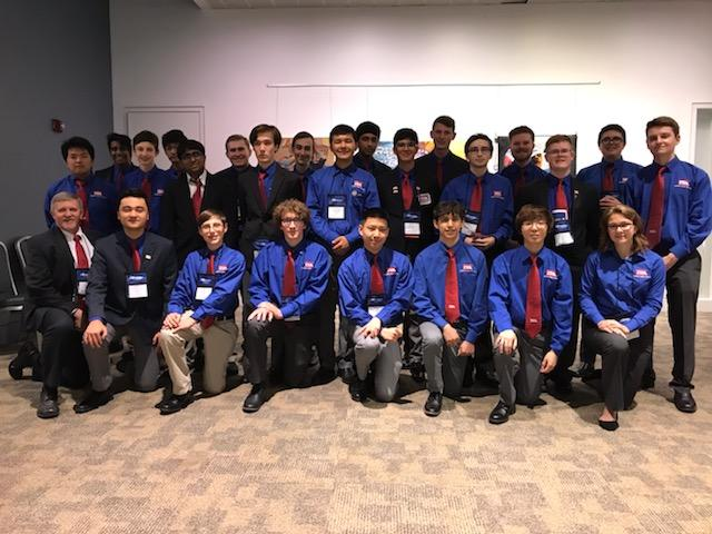 2019 TSA Technosphere - 23 students and an advisor at the May 2019 conference. Chapter members who are attending the conference.